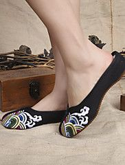 Women's Shoes Canvas Flat Heel Closed Toe Slipp... – USD $ 22.99