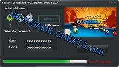 (*** http://BubbleCraze.org - The latest hot FREE Android/iPhone game ***)  8 Ball Pool Cheat Engine 2017 [UPDATE!] – COINS & CASH  http://new-game-cheats.com/8-ball-pool-cheat-engine-2017-update/  With this new 8 ball pool cheat engine you can add Coins and Cash in fantastic mobile game 8 ball pool miniclip! We created 8 ball pool cheat facebook to be compatible with iOS, Android and Windows devices. If you use our 8 ball pool cheat tool free download you will cheat 8 ball pool cheats..
