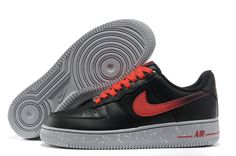 Nike Air Force 1 Black Challenge Red Men's Shoes