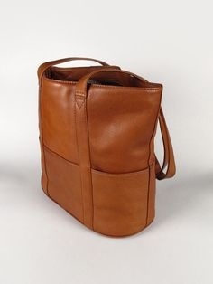 Large Tan Leather Tote Bag vintage handbags purses by tavernacular, $120.00