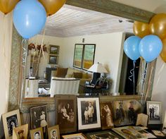 Some ideas for photo display and cake buffet to celebrate a milestone birthday party on short notice. Oh Sugar Events: 90th Birthday Party