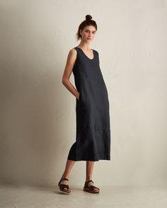 Women's Cotton/Linen Sleeveless Dress