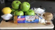Apple pie with cinnamon roll crust, sounds easy and wonderful!!