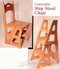 Chair Step Stool Plans - Furniture Plans and Projects | WoodArchivist.com