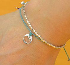 Sterling silver whale bracelet