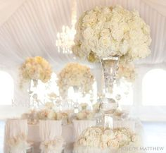 beautiful flowers, chandelier, drapery :)