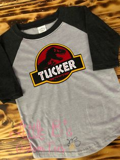 TooLoud Jurassic Triceratops Design Infant T-Shirt Dark
