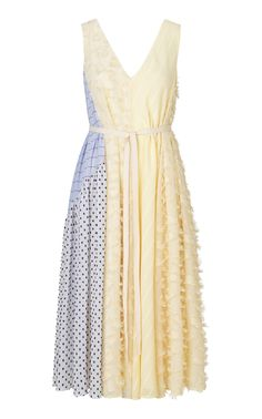 Shop Parker Daffodil V-neck Dress. Versace On The Floor, Red Carpet Gowns, Fashion Sewing, Mixing Prints, V Neck Dress, Dream Dress, Pretty Dresses, White Dress, Style Inspiration