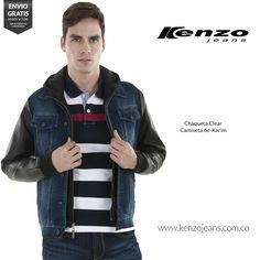 Lleva contigo un estilo moderno y muy casual usando prendas donde el #denim predomine.  #KenzoJeansaUnClic cómpralo ahora en ow.ly/V4Eof