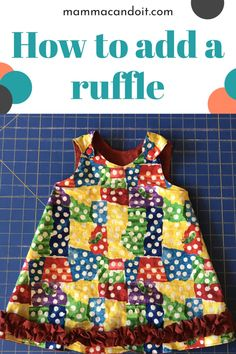 Check out this tutorial to learn how easy it is to add ruffles to your sewing projects Baby Clothes Patterns, Baby Patterns, Clothing Patterns, Sewing Patterns, Sewing Blogs, Sewing Tips, Sewing Hacks, Sewing Projects, Onesie Pattern