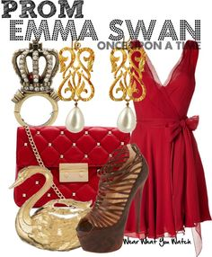 A Prom look inspired by Jennifer Morrison as Emma Swan on Once Upon a Time.