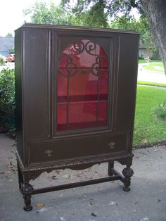 Esresso painted hutch