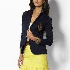 90b04310856 cheap Ralph Lauren Women s Polo 2015 Crested Blazer in Navy