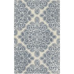 Candice Olson Hand-tufted Divine Cream Geometric Pattern Wool Rug