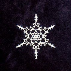 Crochet with Beads Snowflake Pattern by Noel V. Nevins