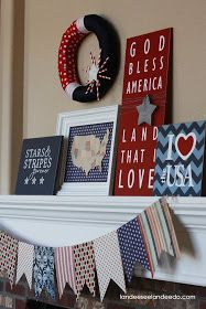 Landee See, Landee Do: 4th of July Mantel
