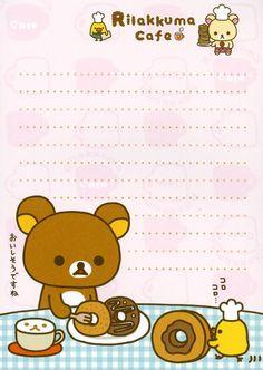 Calendar Stickers, Printable Stickers, Printable Paper, Memo Notepad, Cute Stationary, Cute Letters, Cute Notes, Kawaii Stationery, Rilakkuma
