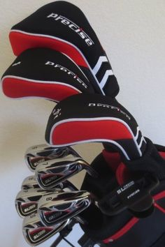 """Tall Mens Golf Club Set Complete Driver, Fairway Wood, Hybrid, Irons, Sand Wedge, Putter & Stand Bag +1"""" Length"""