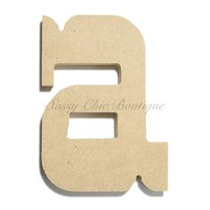 "Unfinished Wooden Letter - Lowercase """"a""""- Western Font Wooden Letters, Lower Case Letters, Wooden Diy, Lowercase A, Westerns, Fonts, Lettering, Products, Decorated Letters"