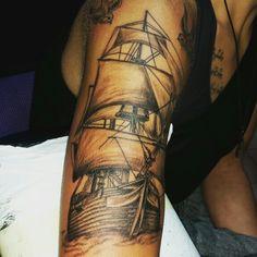 Tattoo Segelschiff