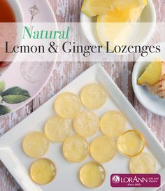 Make these in the microwave! The perfect remedy for sore, scratchy throats. Quick & easy recipe for Natural Lemon, Ginger & Honey Lozenges Cough Remedies For Adults, Cold Remedies, Natural Health Remedies, Herbal Remedies, Crafting Recipes, Cooking Recipes, Cough Drops Homemade, Throat Lozenge, Ginger And Honey