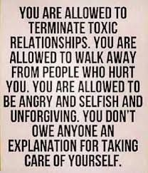 Some people need to see this. When people who barely know you get mad at you for walking away from a toxic relationship, I feel like that is sad and unfair to me. O.o You know who you are.