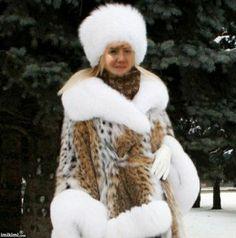 Beautiful Lady In Winter Fur Coat, Beautiful Women, Lady, Winter, Jackets, Fashion, Fashion Pictures, Winter Time, Down Jackets