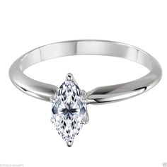 BRILLIANT JEWELRY: 2.00 Ct Marquise Cut Solitaire Engagement Wedding ...
