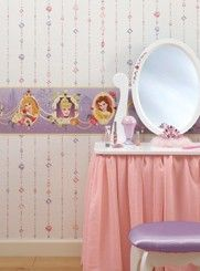 That's My Room Store - Princess Frames Wall Border-Purple, $35.99 (http://www.thatsmyroom.com/princess-frames-wall-border-purple/)