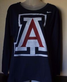 995f77394cd Details about NIKE U of A University of Arizona Wildcats Navy Long Sleeve  Shirt Size Small NWT