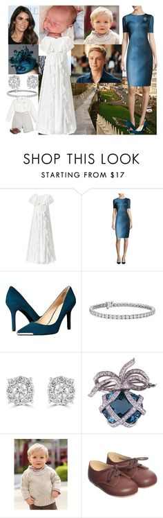 """Rebecca Miller at the christening of her son Julian David together with her husband Jacob and their firstborn son Benjamin"" by charlottedebora ❤ liked on Polyvore featuring Monsoon, Elie Tahari, Nine West, Rachel Trevor-Morgan, Blue Nile and Effy Jewelry"