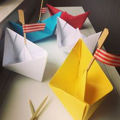 Moore Minutes: Summertime RIVER RAFT Birthday origami paper boats