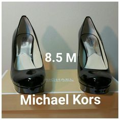 Michael Kors Ionna pump Dress shoe Sleek and chic, the Ionna Pump from Michael Michael Kors is an essential to your ensemble.?  Leather upper in a dress pump style with a round toe Scooped vamp Smooth lining, cushioning insole 1 inch platform midsole Traction outsole, heel height  (3 in. And up) Michael Kors Shoes Platforms