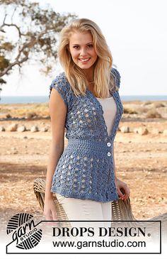 Ravelry: 145-4 Vest with fan pattern in Paris pattern by DROPS design - free pattern