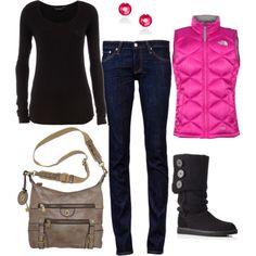 Winter & A POP of Pink!