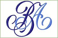 Monogram Designs for Embroidery Machines