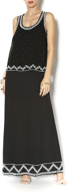 Sugar Lips Beaded Racerback Maxi Was: 162.00$ Now: 36.00$