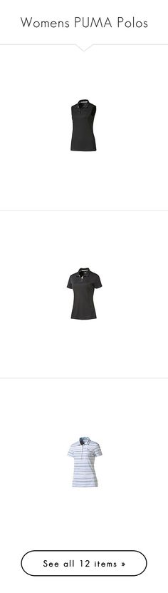 """Womens PUMA Polos"" by tynabrookler ❤ liked on Polyvore featuring tops, sleeveless tops, sleeveless polo tops, polo tops, blue sleeveless top, blue top, collar top, polo collar shirts, polo shirts and ferrari"