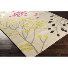 Sanderson Area Rug | Pink Floral and Paisley Rugs Hand Tufted | Style SND4529