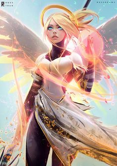 MERCY : YouTube! by rossdraws.deviantart.com on @DeviantArt - More at https://pinterest.com/supergirlsart #overwatch #fanart