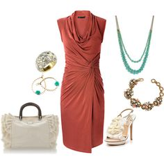 love dress color - burnt coral. getaway?