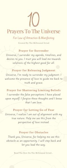 10 Prayers To The Universe For Manifesting