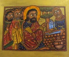 Uniting Church Icon School, Melbourne - Ethiopian icon - Samarian Woman at Well – Helen Williams