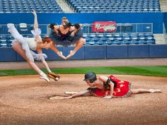 Slide! Is she safe or out? (Photo by Richard Calmes)