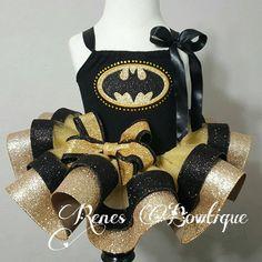 Batman Boutique Ribbon Tutu Set by RenesBowtique on Etsy Baby Tutu, Baby Outfits Newborn, Baby Skirt, Baby Dress, Ribbon Tutu, Crochet Baby Blanket Free Pattern, Baby First Halloween, How To Make Tutu, Baby Girl Bedding