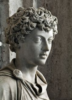 "ancientart: "" Ancient Roman sculpture showing the young Marcus Aurelius. 139-144 AD, Capitoline Museum. """