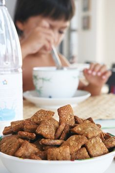 Homemade breakfast cereals with cinamon