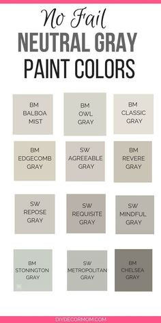 Best 11 Need the best gray paint colors? These light gray paint colors are the best gray paint colors sherwin williams and benjamin moore! Plus see gray paints compared including stonington gray, revere pewter, edgecomb gray, classic gray and more! Neutral Gray Paint, Light Grey Paint Colors, Best Gray Paint Color, Light Gray Walls, Gray Wall Colors, Best Neutral Paint Colors, Griege Paint Colors, Gray Color Schemes, Shades Of Grey Paint