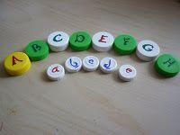 Alphabet bottle tops