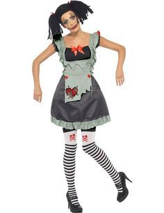 The gothic rag doll costume I made for my daughter. Took an old ...
